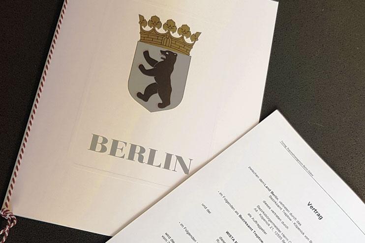 Vertragsunterzeichnung RM Berlin Südost. Bild: WISTA